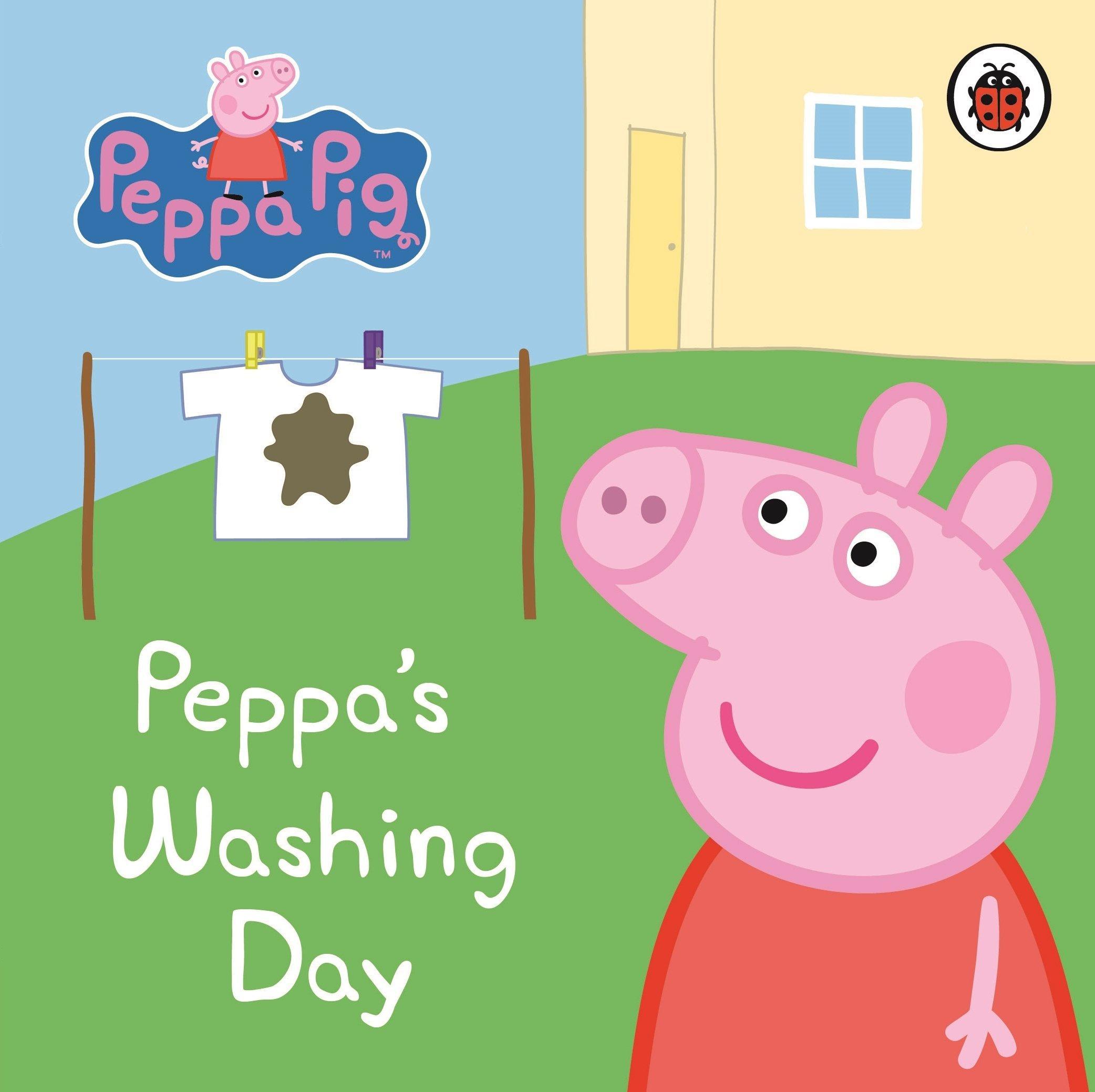 Peppa Pig Mmbookmarket Angol Knyvek Ruhza Antikvrium J S Peppas First Sleepover Washing Day